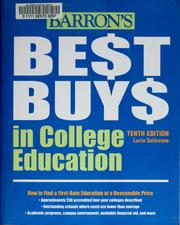 Cover of: Barron's Best Buys in College Education | Lucia Solórzano