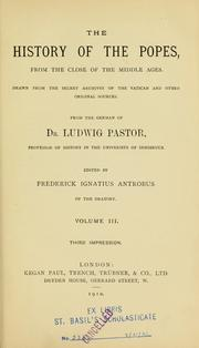 Cover of: The history of the popes | Pastor, Ludwig Freiherr von