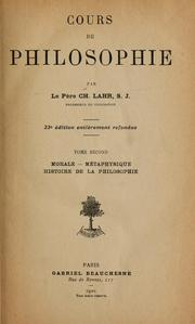 Cover of: Cours de philosophie | Charles Lahr