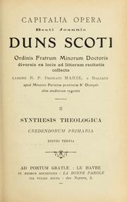 Cover of: Capitalia opera | John Duns Scotus