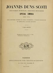 Cover of: Opera omnia | John Duns Scotus