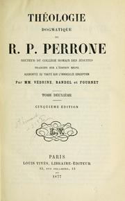 Cover of: Théologie dogmatique | Jean Perrone