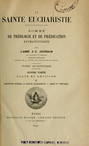 Cover of: La Sainte Eucharistie | Jourdain, Zéphyr Clément 1837-1905