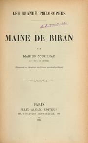 Cover of: Maine de Biran | Marius Couailhac