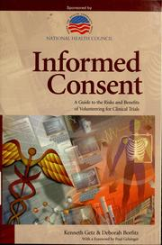 Cover of: Informed consent | Kenneth Getz