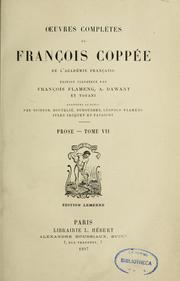 Cover of: Prose | François Coppée