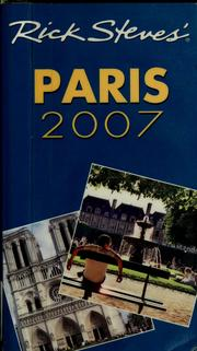 Cover of: Rick Steves' Paris 2007 | Rick Steves
