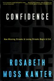 Cover of: Confidence by Rosabeth Moss Kanter