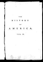 Cover of: The history of America | William Robertson