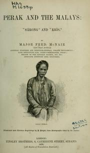 Cover of: Perak and the Malays | John Frederick Adolphus McNair