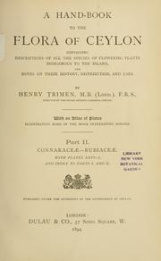 Cover of: A hand-book to the flora of Ceylon by Henry Trimen