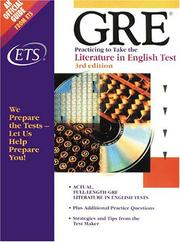 Cover of: GRE | Educational Testing Service., Graduate Record Examinations Board