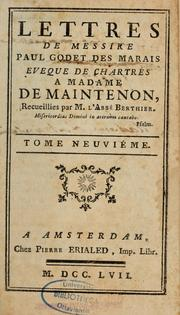 Cover of: Lettres de madame de Maintenon by Maintenon Madame de