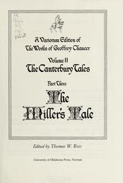 Cover of: The Canterbury tales by Geoffrey Chaucer