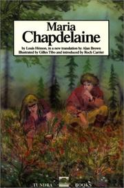 Cover of: Maria Chapdelaine by Louis Hémon