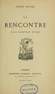 Cover of: La rencontre by Léon Dierx