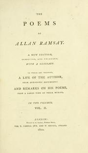 Cover of: The poems of Allan Ramsay by Allan Ramsay