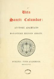 Cover of: Vita Sancti Columbae: auctore Adamnano Monasterii Hiensis Abbate | Bannatyne Club (Edinburgh, Scotland)
