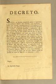 Cover of: Decreto by Portugal