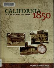 Cover of: California 1850 | Janice Marschner