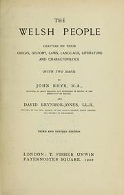 Cover of: The Welsh people by Rhys, John Sir