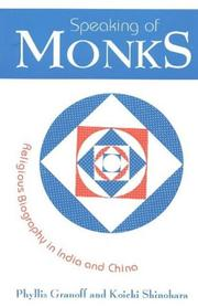 Cover of: Speaking of Monks | Phyllis Granoff