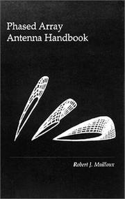 Cover of: Phased array antenna handbook | Robert J. Mailloux
