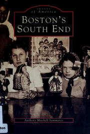 Cover of: Boston's South End | Anthony Mitchell Sammarco