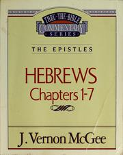 Cover of: Hebrews | J. Vernon McGee