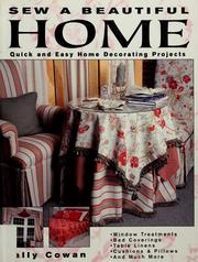 Cover of: Sew a beautiful home by Sally Cowan