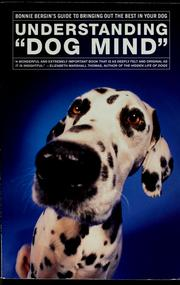 "Cover of: Understanding ""dog mind"" by Bonnie Bergin"