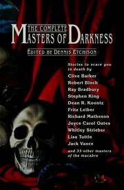 The Complete masters of darkness