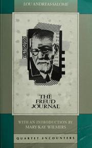 Cover of: The Freud journal | Lou Andreas-Salomé