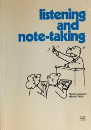 Cover of: Listening and note-taking | Nicolas Ferguson
