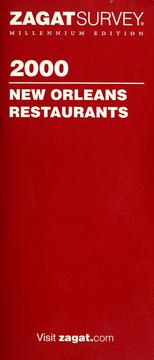 Cover of: 2000 New Orleans restaurants by Sharon Litwin