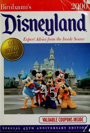 Cover of: Birnbaum's Disneyland by Jill Safro