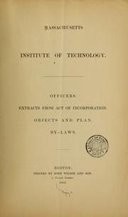 Cover of: Officers | Massachusetts Institute of Technology