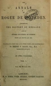 Cover of: The annals of Roger de Hoveden | Roger of Hoveden, Roger of Hovedon