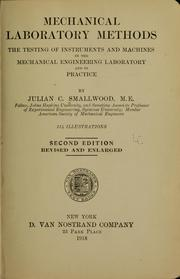 Cover of: Mechanical laboratory methods | Julian Chase Smallwood