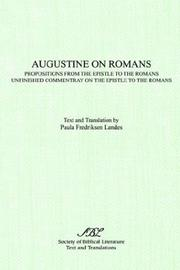Cover of: Augustine on Romans | Augustine of Hippo