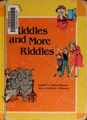 Cover of: Riddles and more riddles | J. Michael Shannon