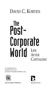 Cover of: The Post Corporate World by People-Centered Development Forum