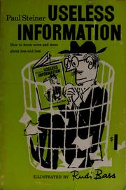 Cover of: Useless information | Steiner, Paul