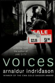 Cover of: Voices by Arnaldur Indriðason
