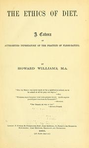 Cover of: The ethics of diet by Williams, Howard
