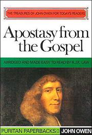 Cover of: Apostasy from the Gospel (Puritan Paperbacks by John Owen