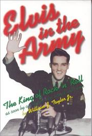 Cover of: Elvis in the Army by William Taylor
