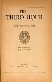 Cover of: The third hour | Geoffrey Household