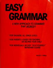 Cover of: Easy grammar | Wanda C. Phillips