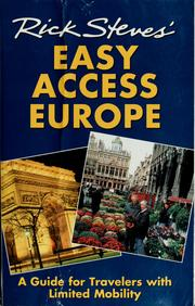 Cover of: Rick Steves' easy access Europe by Rick Steves